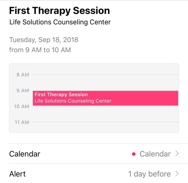 First Time Experience: Seeing a Therapist